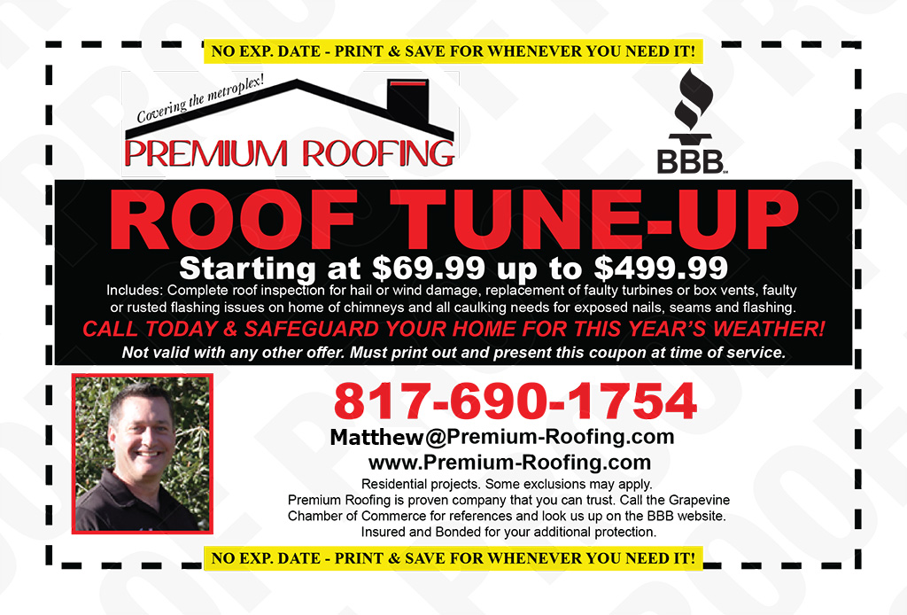 Premium Roofing Inc Coupon Grapevine TX
